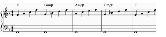 chord arpeggio of the intro chords