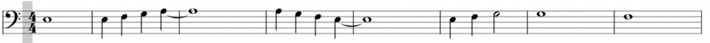 How to easily read bass clef notes on piano? - Example 3 - Bassschlüssel lesen am Klavier