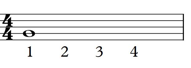 whole note beats
