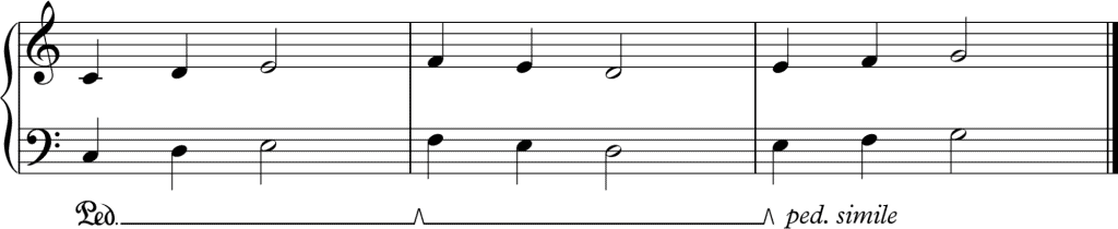 sustain pedal notation