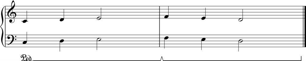 damper pedal notation