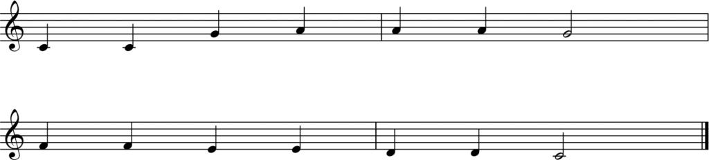 melody in treble clef